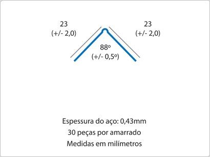 Cantoneira 23×23 Perfurada
