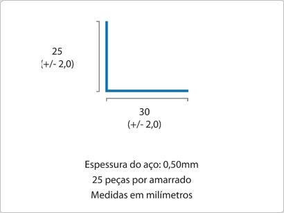 Cantoneira 25×30